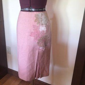 Beth Bowley Pink Tweed Velvet Flower Skirt 2